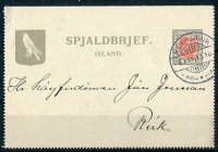 1911 | Iceland - Local Letter Card 1911 image