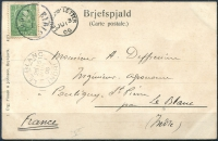 1905 | Post Card to France via Leith RARE image